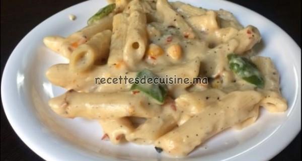 Pâtes à la sauce blanche - معجنات بالصلصة البيضاء