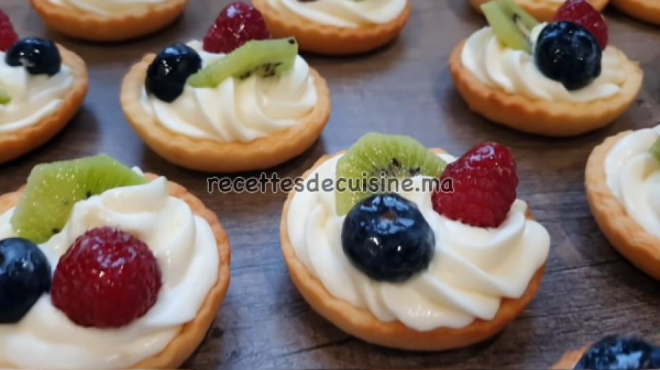Mini-tartelettes aux fruits - ترتلات بالفواكه