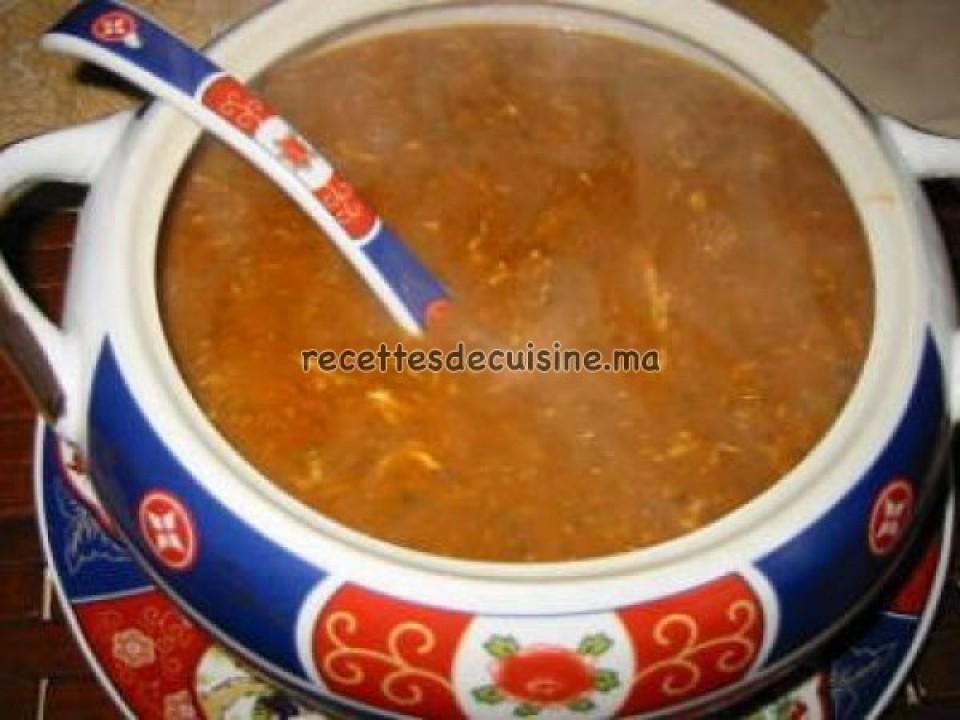 La soupe marocaine Harira - الحريرة المغربية