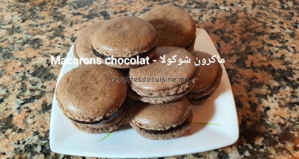 Macarons chocolat à la meringue française – ماكرون شوكولا بالمورانك الفرنسية